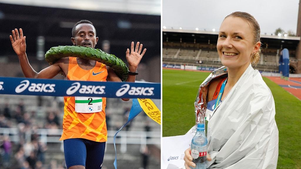Löpare och vinnare i Stockholm maraton.