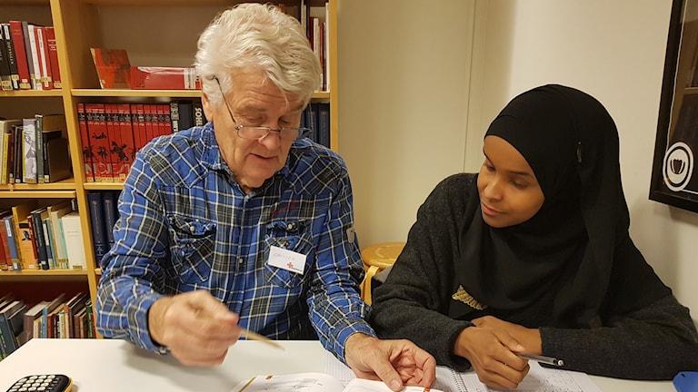 Christer Jonsson och Zeinab Gaatur