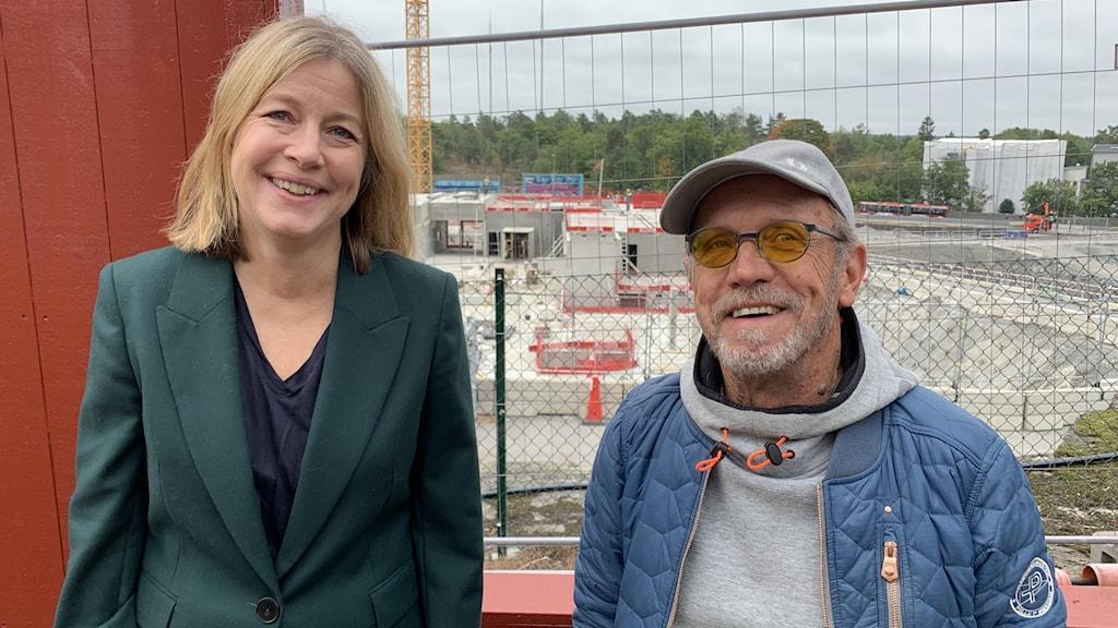 Katarina Wåhlin Alm - Stadsutvecklingsdirektör i Nacka Kommun LG Nilsson - Kreatör och Projektledare.