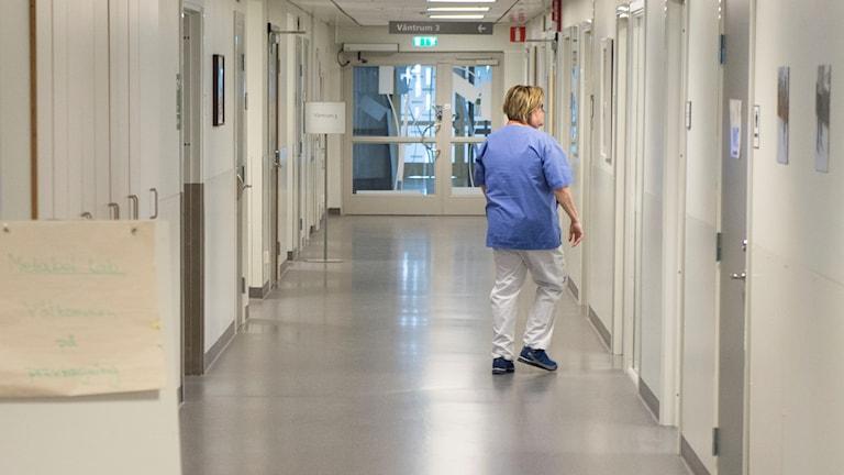 Korridor på Södersjukhuset.
