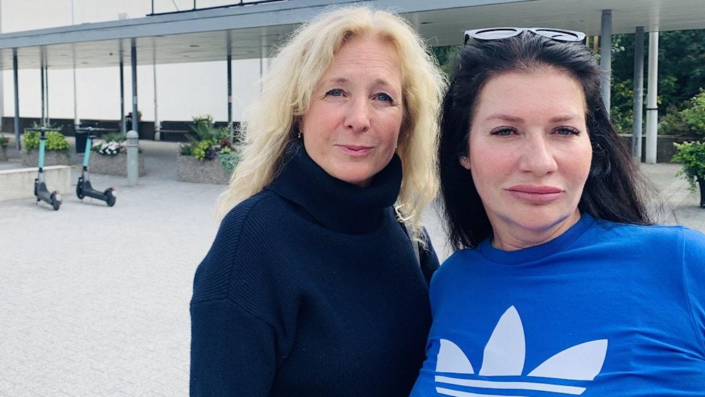 Eva Färjsjö och Maritha Ogilvie (på bild) tillsammans med Carolina Sinisalo är tre anhöriga som vill se en kommission mot dödsskjutningar