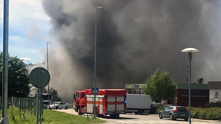 branden Veddesta industriområde.