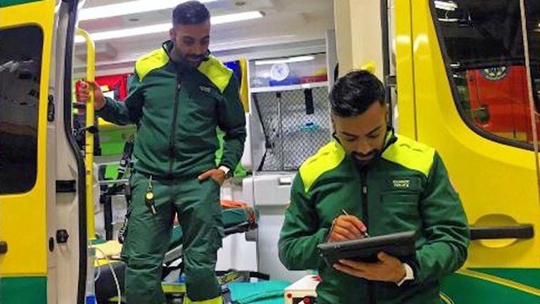 Ambulanssjuksköterskan Ferhat Baysal.