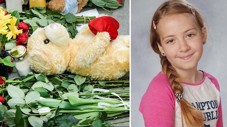 Ebba Stefansdotter Åkerlund och blommor vid Drottninggatan