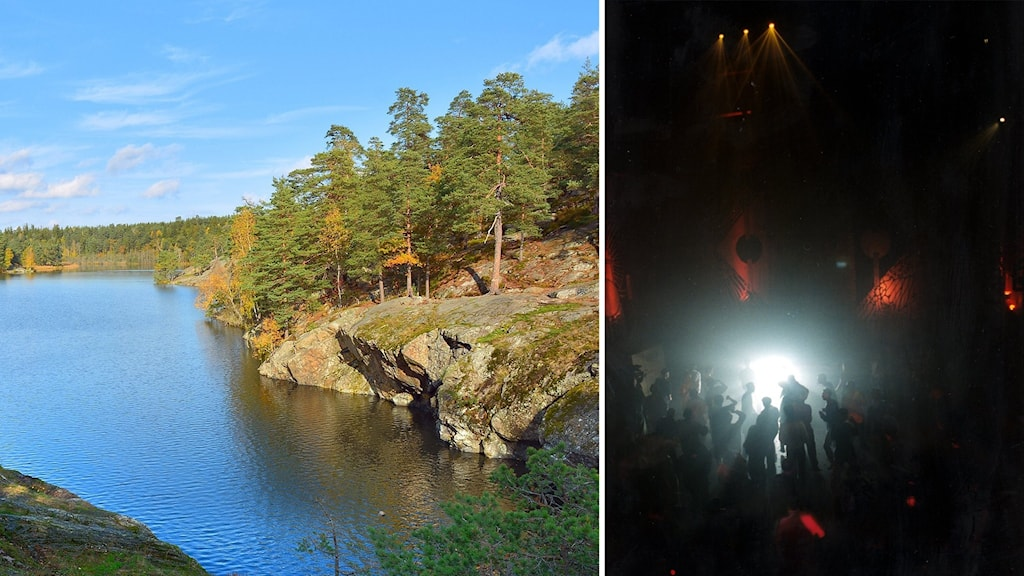 En sjö och folk som dansar.