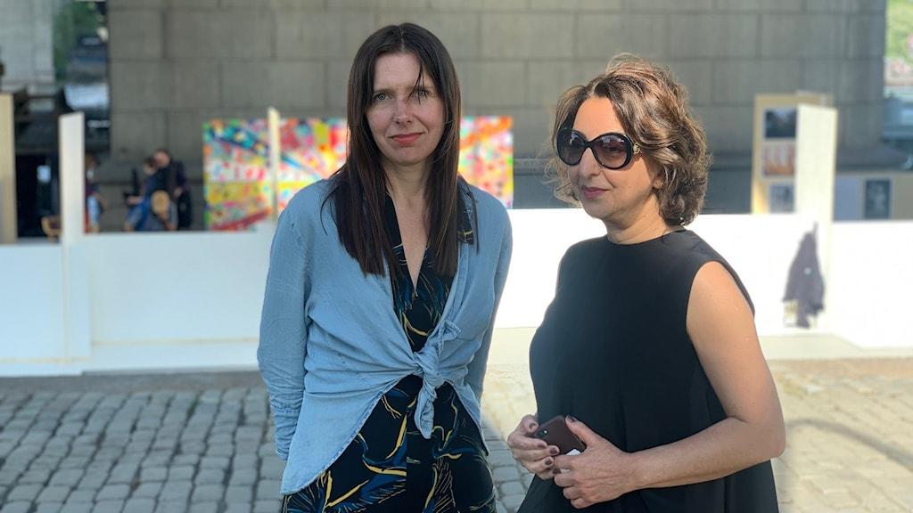 Karin Roberts och Fariba Daryani