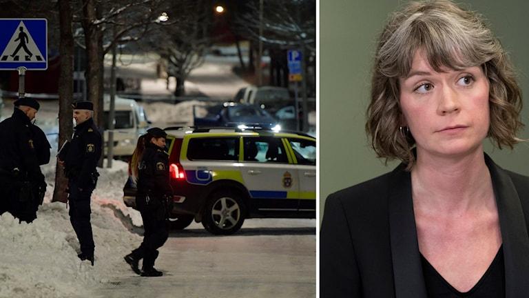 Poliser i Kista och Alexandra Bittner