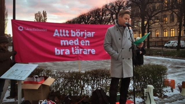 Johan Törnroth, ordförande Lärarförbundet i Stockholm.