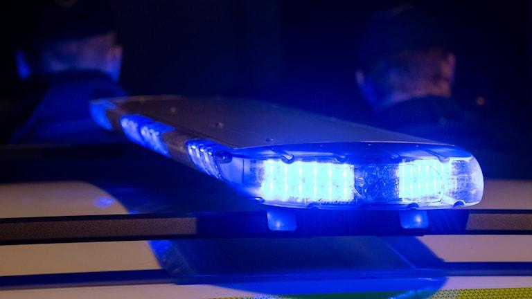 Brottsplatsen spärrades av för teknisk undersökning.
