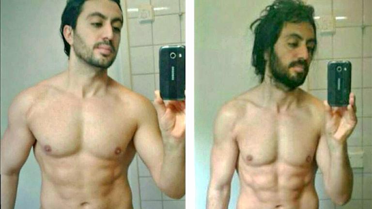 Moshe Kucukkaya före och efter sin månad som hemlös.