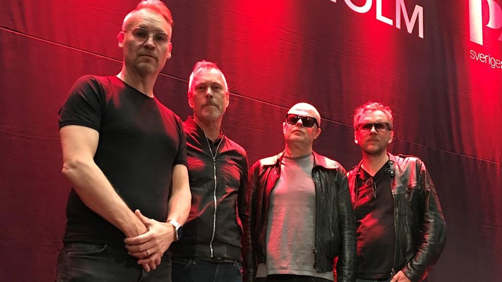 The Mobile Homes på Musikplats Stockholm 2021 med Markus Mustonen, Hans Erkendal, Patrik Brun och Sami Sirviö.