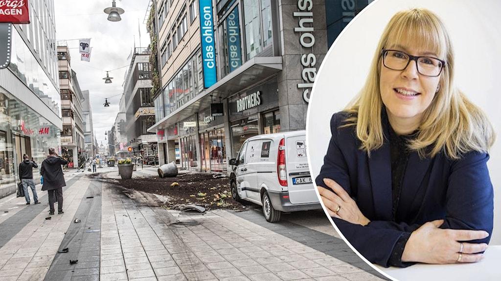 Stina Nordström hjälpte pojke på Drottninggatan