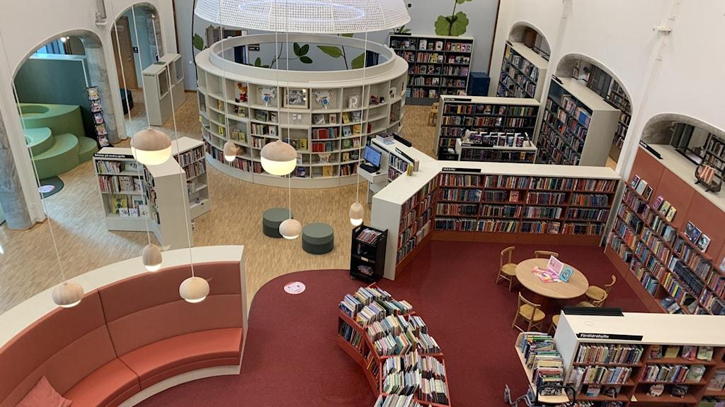 Nya Tranströmerbiblioteket vid Medborgarplatsen.