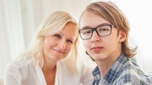 Linn Wågberg med sonen Leo.
