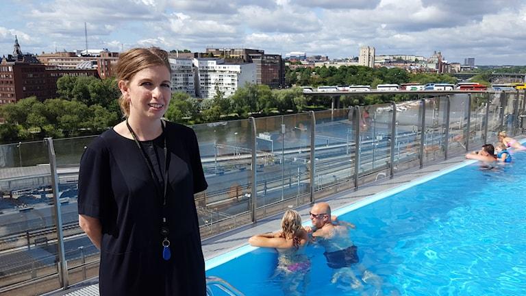 Clarion Signs pool på taket är väldigt fotograferad berättar Hanna Frick.