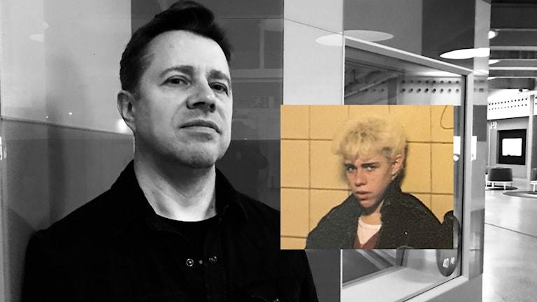 """Originalmedlemmen Peo Thyrén 2017 (och 1979 på omslaget till """"Tonårsdrömmar"""")."""