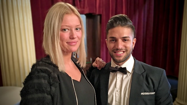Fanny Lyckeke och Rokan Haidar från Paradise Hotel