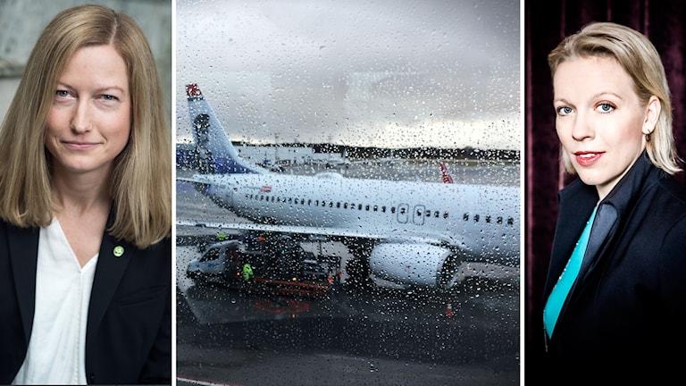 Flygplan Katarina Luhr och Maria Rankka