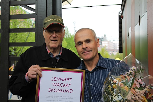 Karl-Evert Skoglund med Anders Limpar