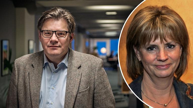 Jan Helin och Marianne Rundström från SVT