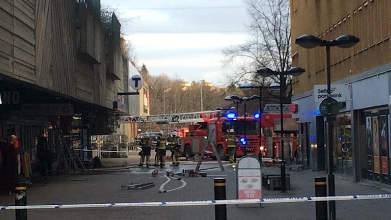 Brand i Skärholmen