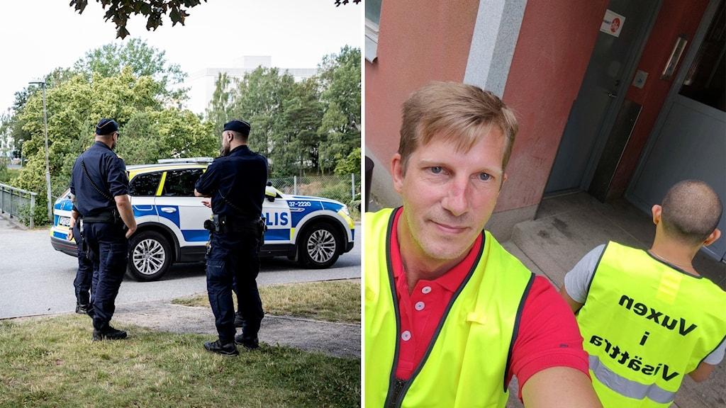Ztefan Carlsson kände att han ville göra något efter skjutningen i Visättra och skapade projektet Vuxna i Visättra.