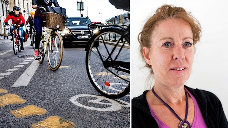 Cyklister och Sonja Forward.