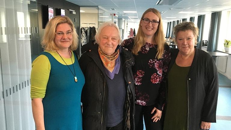 """Ingrid Lindberg, Jan Helgeson, Linda Sternö och Borghild Håkansson medverkade under """"Kultur utan gränser"""""""