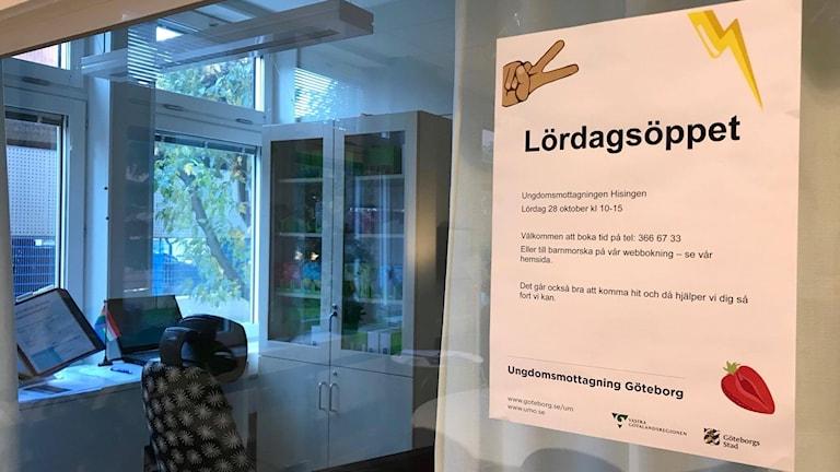 Ungdomsmottagningen på Hisingen kommer att hålla öppet på Lördagar under ett år.