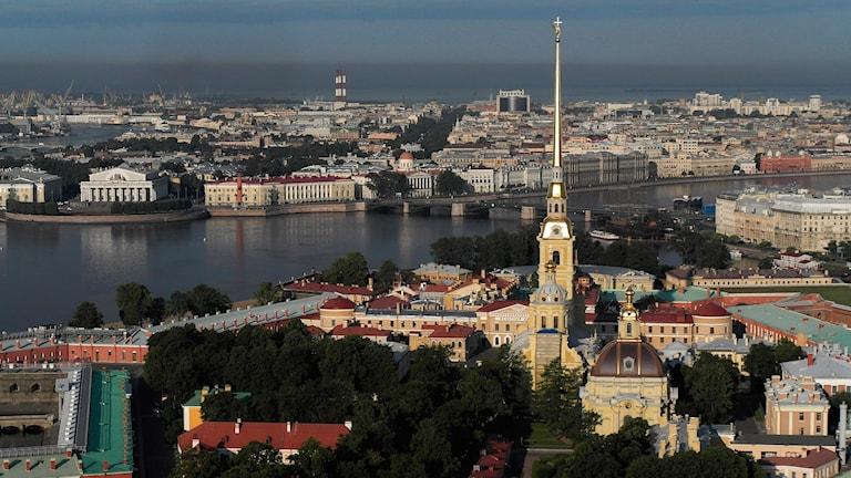 En vy över S:t Petersburg.