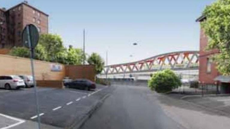 En av de planerade järnvägsbroarna vid Olskroken.