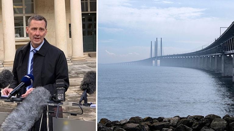 Danmark inför gränskontroller från Sverige