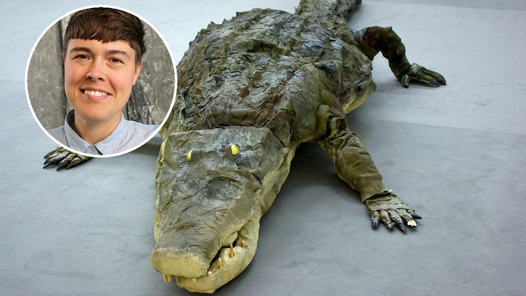 Krokodil som konstverk
