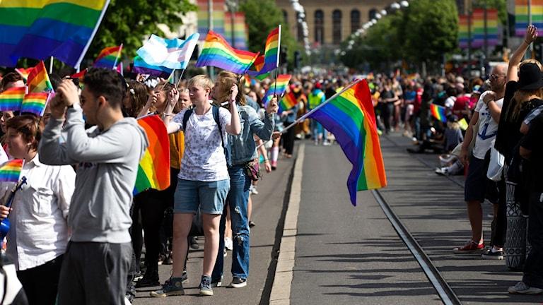 Pride West - parade in Gothenburg
