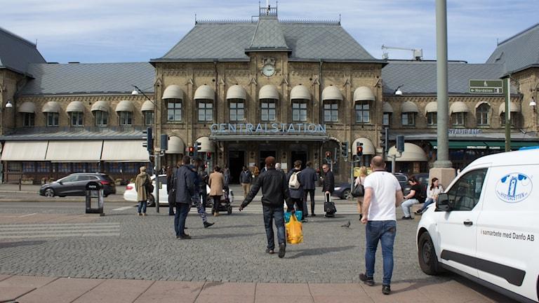 Centralstationen rakt framifrån