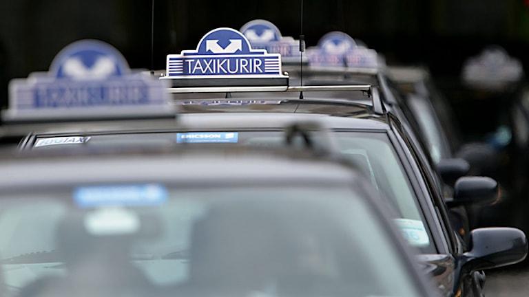 Männen har stämt Taxi Kurir för att ha tagit ut avgifter som inte varit avtalade. Foto: Fredrik Sandberg/Scanpix.
