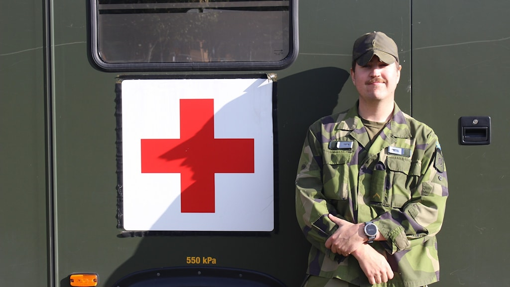 Alexander Lillänger, soldat på Trängregementet.
