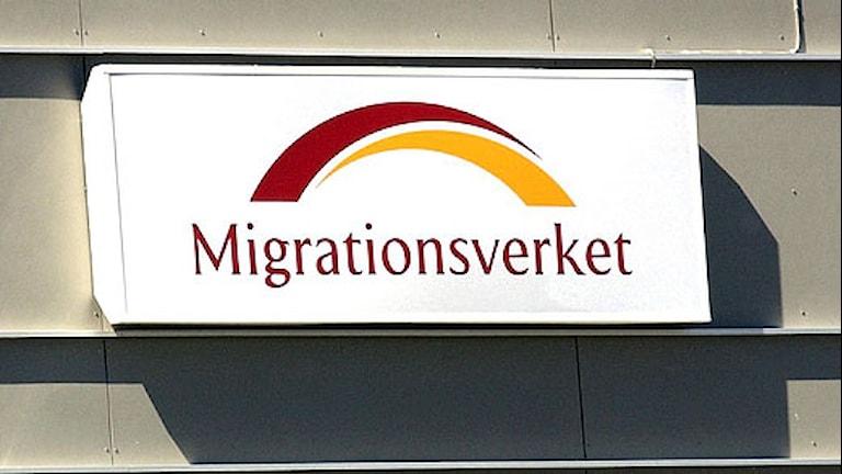 Skylt Migrationsverket. Foto: Maja Suslin/Scanpix.