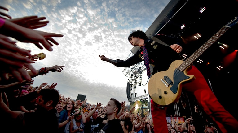 Nästan 28 000 personer såg Green Day spela på Ullevi. Foto Adam Ihse/Scanpix
