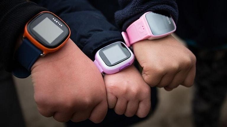 GPS-klockor på barn.
