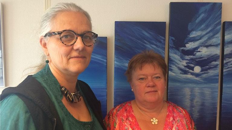 Susanna Blom Persson och Anne Karin Höglund på Vårdförbundet