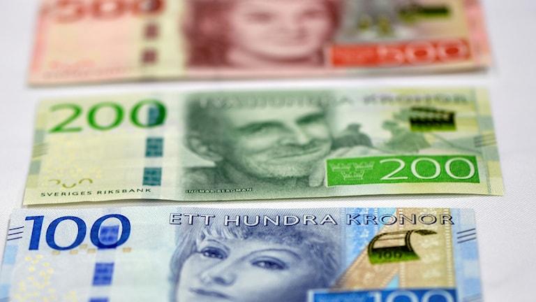 Svenska sedlar.