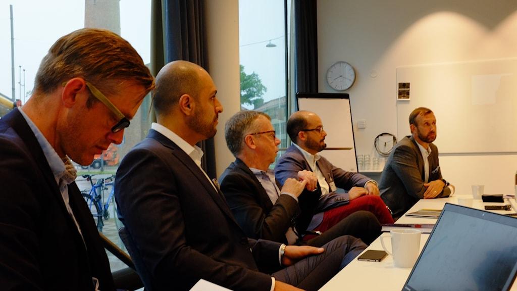 Representanter från flera stora företag i Göteborg.