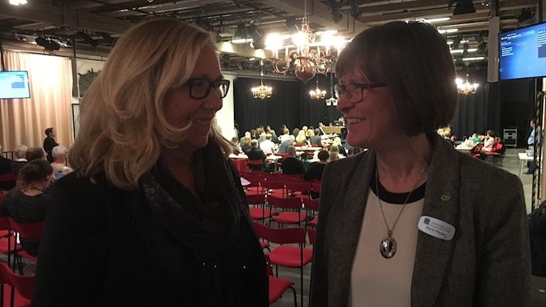Helene Odenjung ( L ) och Karin Pleijel ( MP ) är överens om att införa central skolnämnd