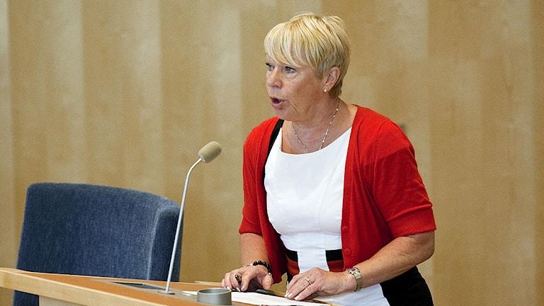 Wiwi-Anne Johansson (V) i riksdagen.Foto: Christine Olsson/Scanpix.
