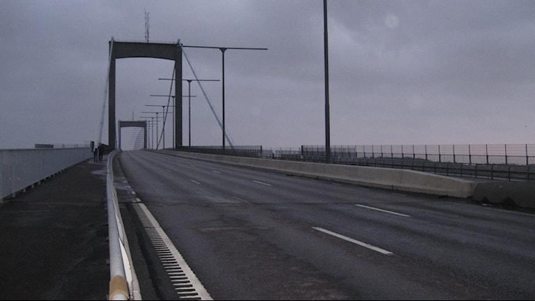 Älvsborgsbron ligger öde. Foto: Peter Stenberg SR P4 Göteborg