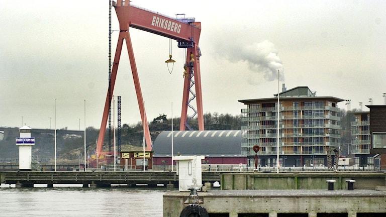 Bockkranen på Eriksberg ska skyddas. Foto: Annette Friberg/Scanpix