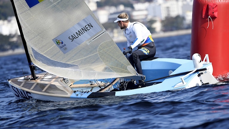 Max Salminen från OS i Rio 2016 finnjolle
