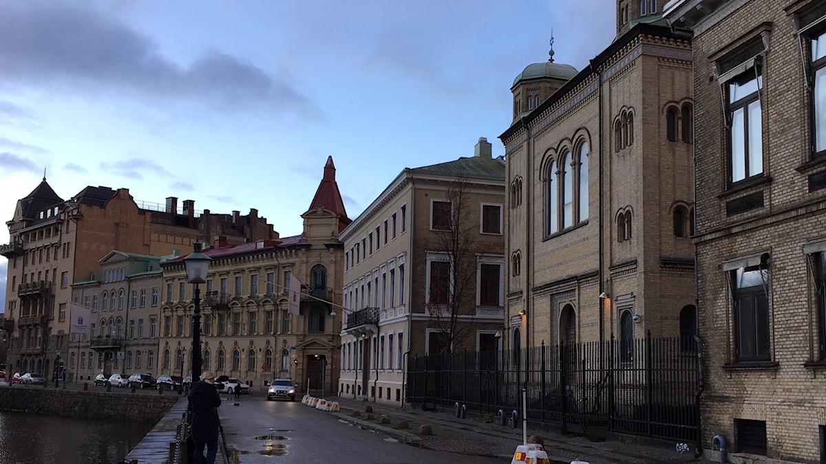 Synagogan dan efter attacken.