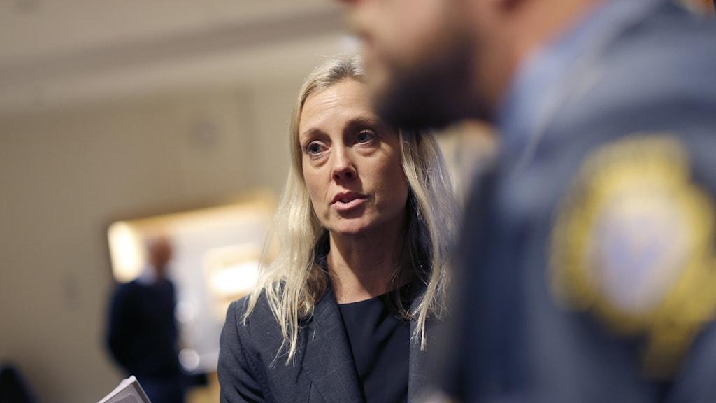 Åklagare Linda Wiking berömmer utredningsarbetet. (Arkivbild)